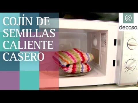 Cojín de semillas casero para calentar en microondas | Ideas decorativas con Lilla Moreno