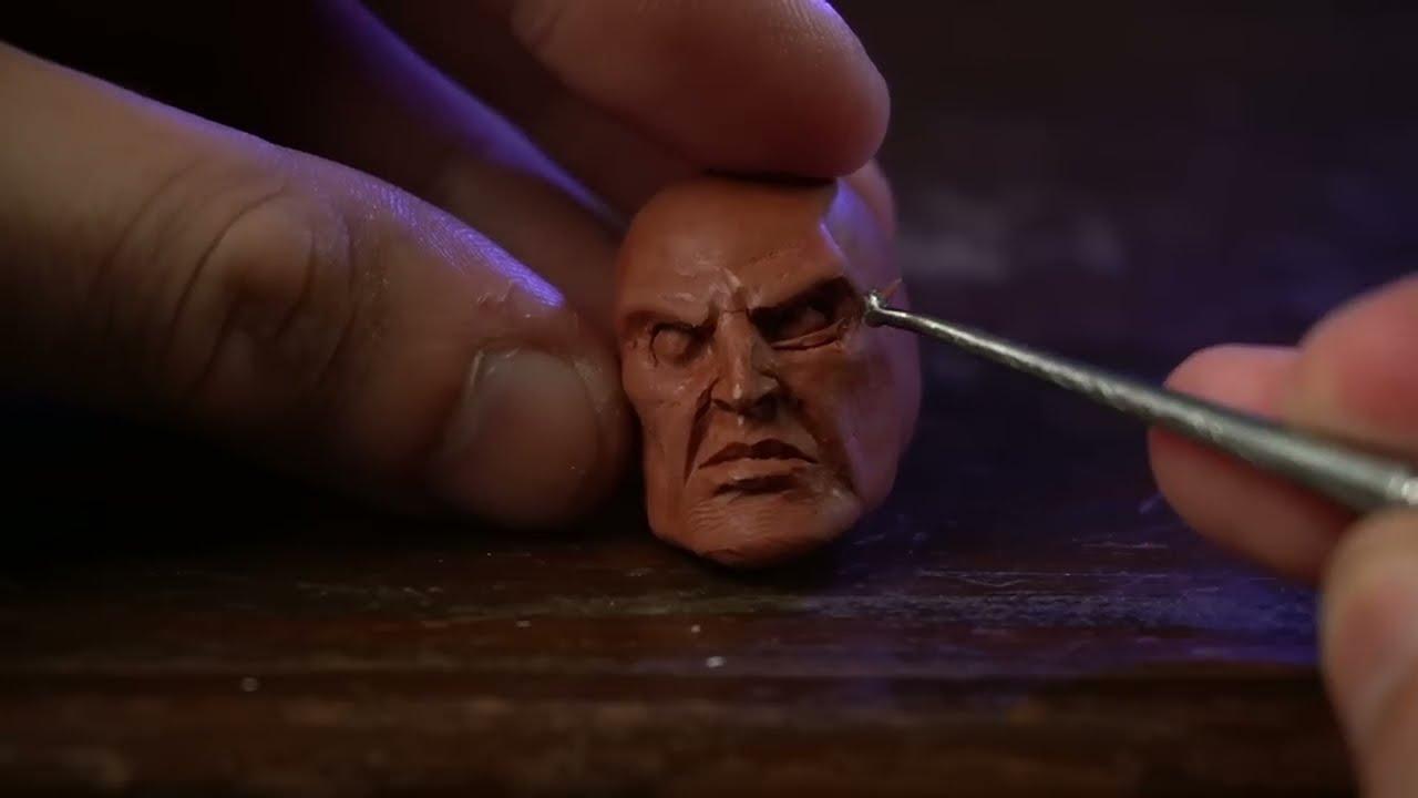 sculpture of kratos timelapse tutorial by dr garruda