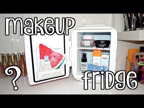 I bought a MAKEUP FRIDGE?! 💗 Skincare Fridge TOUR & Review!!