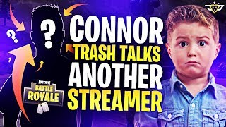 CONNOR TRASH TALKS ANOTHER STREAMER?! TOO FUNNY LOL! (Fortnite: Battle Royale)