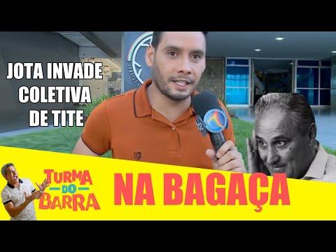 TURMA DO BARRA invade coletiva de TITE, técnico da SELEÇÃO BRASILEIRA NO RECIFE