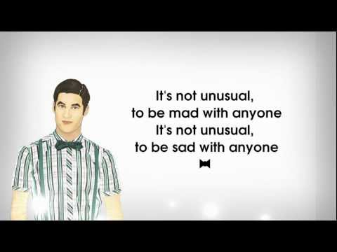 Glee Cast - It's Not Unusual (Lyrics) Blaine Anderson