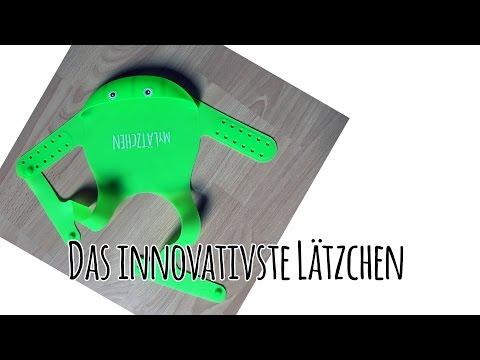 Das beste Baby-Lätzchen - MyLätzchen Frosch Stopp-Trick - Premium Silikon Lätzchen mit Auffangschale