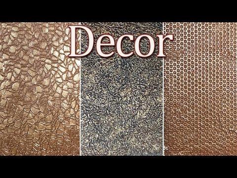 Декоративная шпаклевка 3 простых способа. Декор для небольших поверхностей