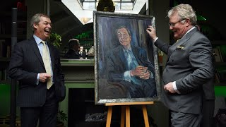 video: Nigel Farage presented with 'Mr Brexit' portrait as he reveal he won't miss EU 'dump'
