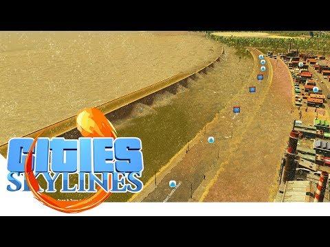 Tsunami Schutz Testmauer - Cities Skylines - Apocalypse City 08