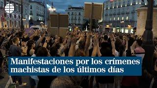 Multitudinarias manifestaciones por los crímenes machistas de los últimos días