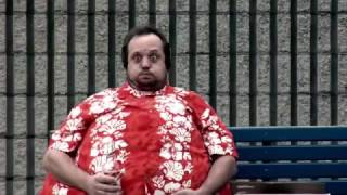 Man Beer Belly Inflation Commerical - Body Inflation and Burst