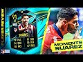 WORTH THE GRIND?! 91 MOMENTS LUIS SUÁREZ REVIEW!! FIFA 21 Ultimate Team