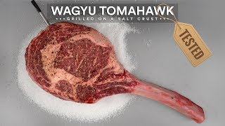 Wagyu Tomahawk on Salt Crust! WHAT!?