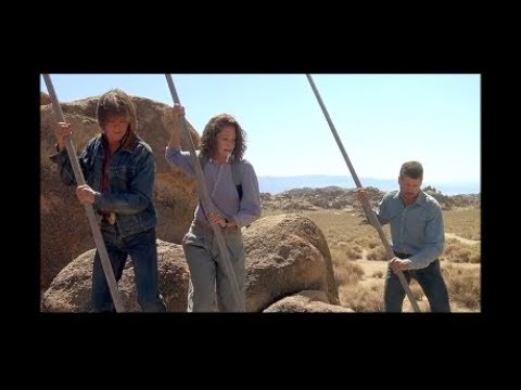 You Guys Know How To Pole Vault? Stay On Those Residual Boulders! Scene From 1990 Movie Tremors
