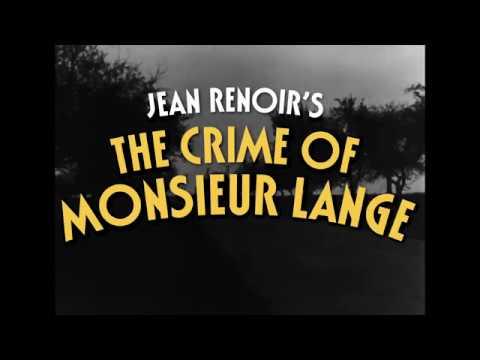 Le crime de Monsieur Lange online