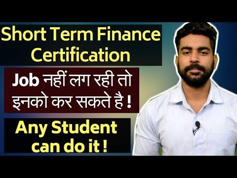 Best 4 Short Term Financial Certification | Job Oriented Certificate ...