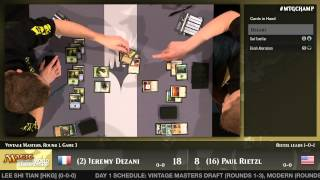 World Championship 2014 Extended Round 1 (Draft): Jeremy Dezani vs. Paul Rietzl