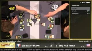 World Championship 2014 Extended Round 1 (Draft): Jeremy Dezani vs. Paul Rietzl