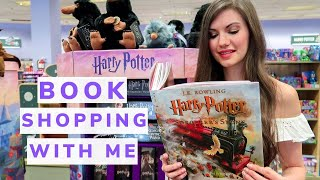Come Book Shopping With Me! Bookstore Vlog + Haul. Harry Potter, YA Books, And Classics.
