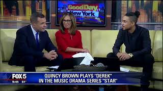 Star Cast- Quincy on Good Day NYC doing promo for season 2
