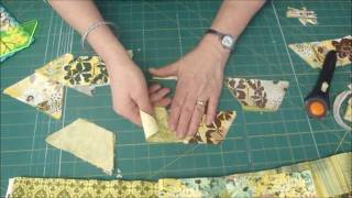 Make A Hexagon Quilt Using The 5 Half-Hex Ruler
