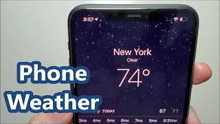 iPhone Weather App how to Add Cities, Remove Cities and Change Locations