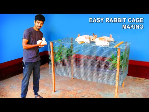 , title : 'How To Make Rabbit Cage at Home Using Iron Net   Easy Way To Make Rabbit Cage