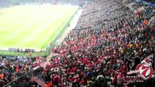 preview picture of video 'Olympiakos fans in Gelsenkirchen'