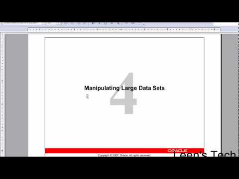 Download Oracle Tutorial 1 Part 2 Video 3GP Mp4 FLV HD Mp3 Download