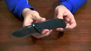 Zero Tolerance Matte Black Folder (0350) - відео 3