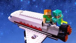 Майнкрафт видео – Космические приключения Стива! - Игры для детей.