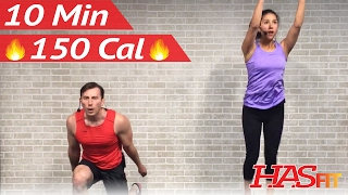 10 Minute Workout : HIIT Home Cardio Workout Without Equipment - HIIT Workout No Equipment at Home by HASfit
