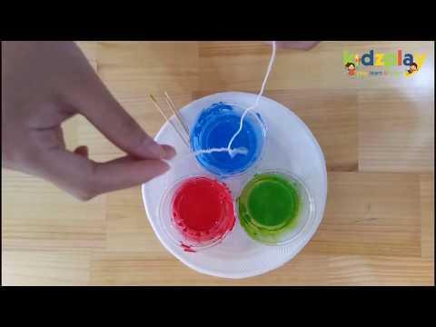 """Hướng dẫn bé làm hoạt động nghệ thuật """"vẽ tranh bằng dây"""""""