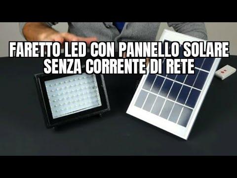 Come funziona il faretto LED con pannello solare senza corrente di rete
