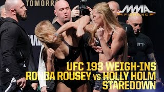UFC 193 Weigh-Ins: Ronda Rousey vs. Holly Holm
