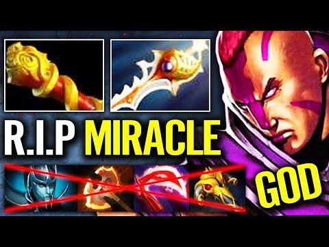 GOD Anti-Mage Shut Down Miracle PA Divine - 10k mmr Dota 2 pro gameplay Anti mage