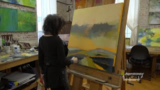 Painter Laura Radwell Crafts Dreamy Abstract Landscape Art   Connecting Point   Feb. 14, 2019
