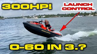 INSANE SPEED * The Quickest PWC/Jet Ski you can buy * SEA-DOO RXT-X 300 Review * 0-60 MPH, 1/4 Mile