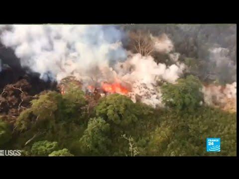 US - Hawaii's Kilauea volcano summit erupts
