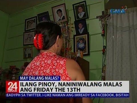 [GMA]  24 Oras: Ilang Pinoy, naniniwalang malas ang Friday the 13th