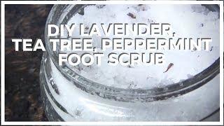 Peppermint, Lavender, Tea Tree ♥ DIY Foot Scrub