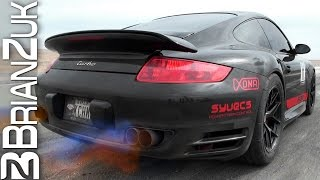 1700HP Porsche 997 Turbo - Accelerations on Runway