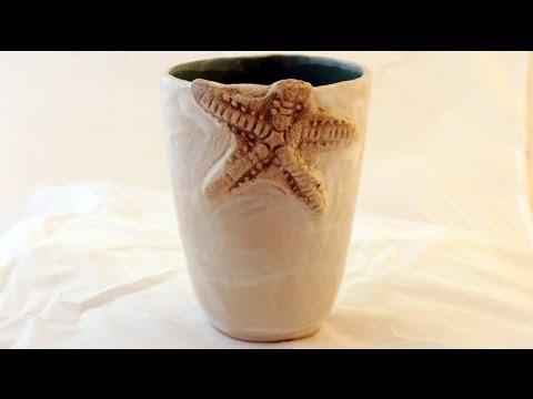 Keramik Seestern Becher