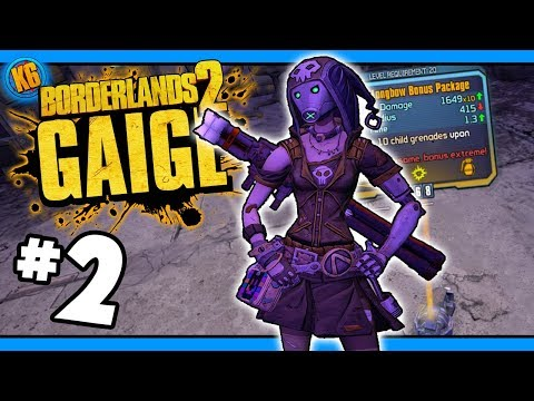 LUCKIEST GAIGE EVER?! - Road to Ultimate Gaige - Day #2 [Borderlands 2]