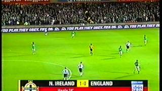 Northern Ireland 1 - 0 England (07/09/2005) - David Healys Goal.