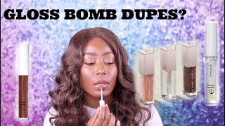 $3 FENTY BEAUTY GLOSS BOMB DUPES???   GREAT AFFORDABLE ALTERNATIVES!