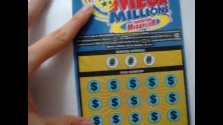 SCRATCH OFF MEGA MILLION WIN UP TO $100,000 OHIO LOTTERY TICKET
