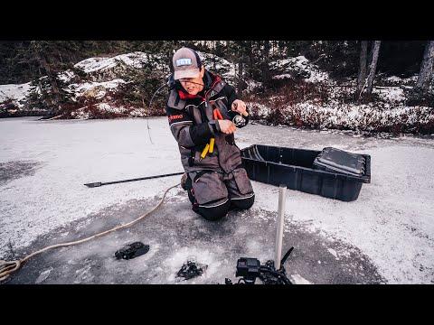 Isfiskeri efter kildeørred