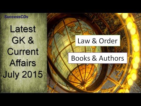 Law News,  Books and  Authors | July 2015  Current Affairs and General Knowledge