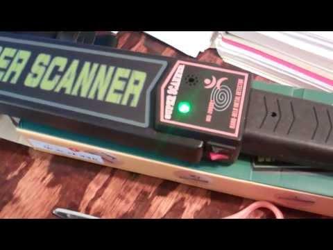 Testing a Super Scanner Metal Detector