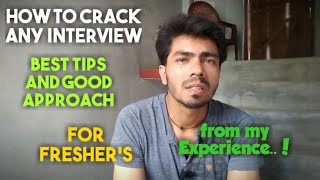 How to Face Interview for Fresher's