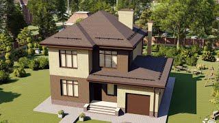 Проект дома 148-C, Площадь дома: 148 м2, Размер дома:  13x10,4 м