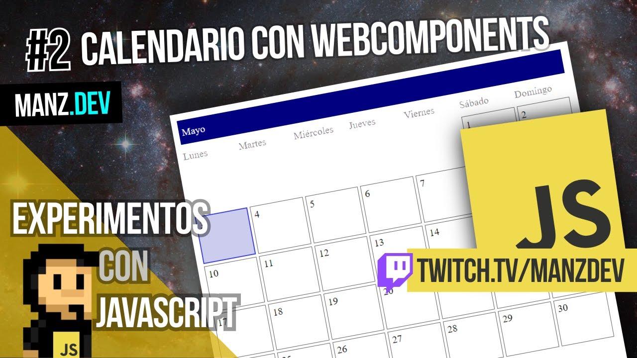 Calendario con WebComponents
